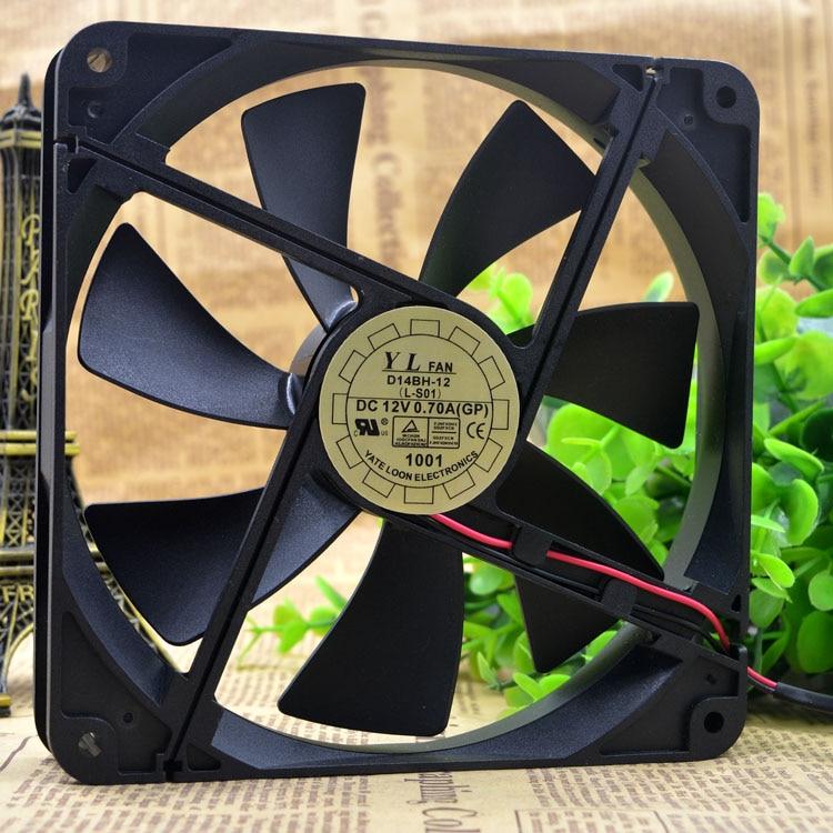 SSEA New server cooling fan for Y.L.FAN D14BH-12 12V 0.7A 14cm 14025 140*140*25mm