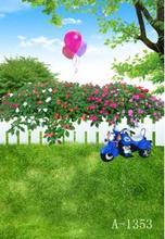 Frete grátis personalizado impressão digital estúdio fundos das crianças de flor do bebê, cenários de vinil fotografia de natureza cênica A1353