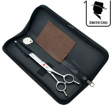 цены на 8.0 Inch Smith Chu Big Pet Grooming Cutting Scissors Japan 440c Straight Cats Dogs Hair Shears Animals Tools Suppliers LZS0039  в интернет-магазинах