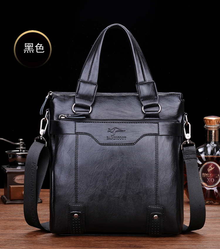 ZYJ Men\`s Business Leather Shoulder Laptop Briefcase Bags Sling Travel Messenger Portfolio Bag Causal Bolsa Lawer Handbag (48)
