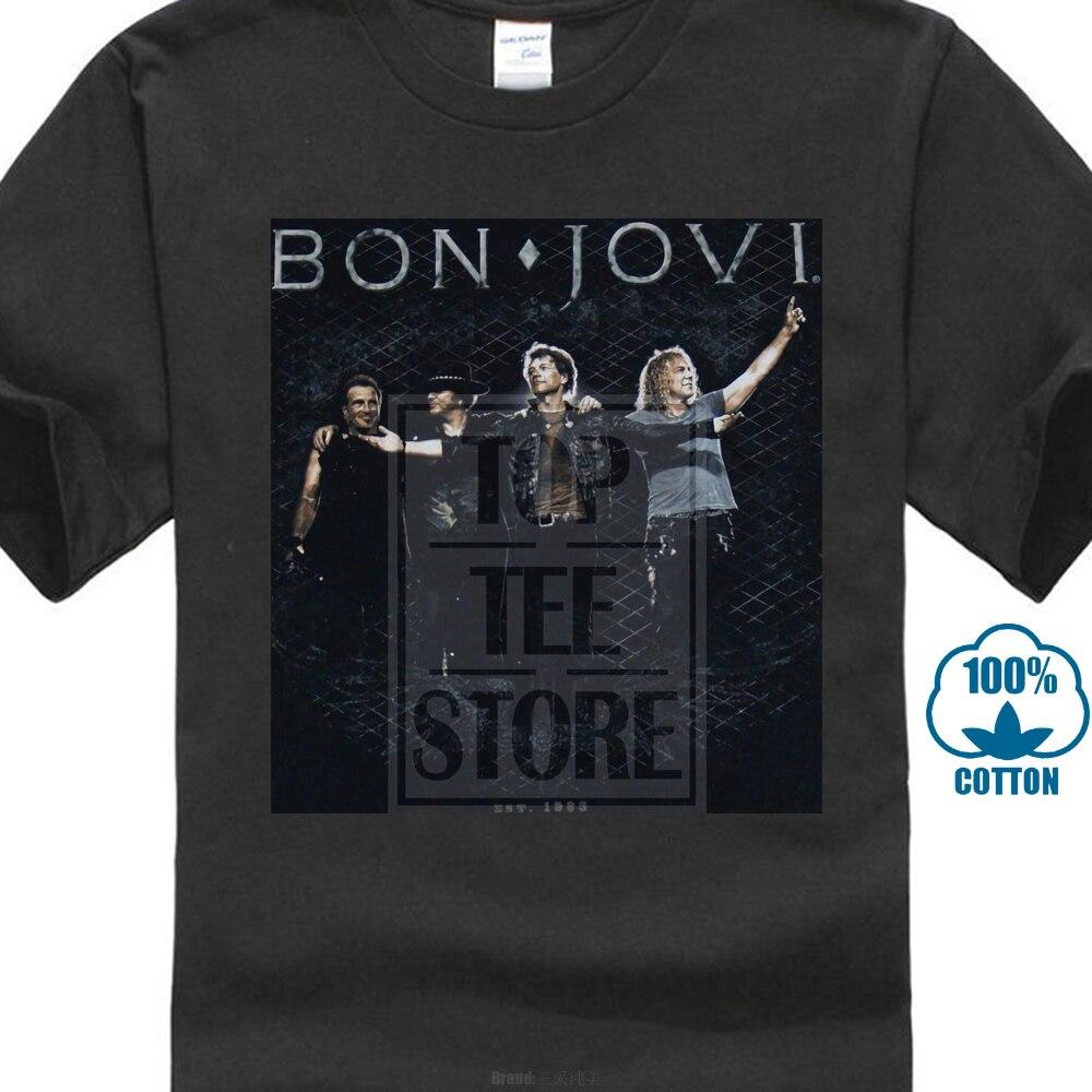89aeda4a Bon Jovi Standing Ovation T Shirt S M L Xl 2Xl Brand New Official T Shirt