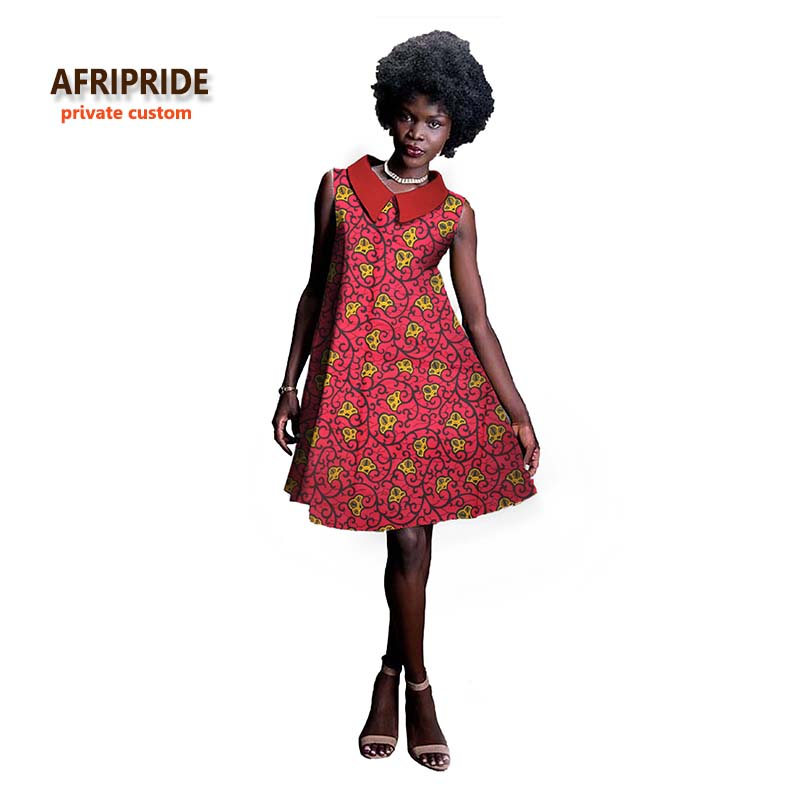 2017New fashion african dress for women Lapel skirt for ladys and girls high-quality batik cotton fabrics maxi A722517