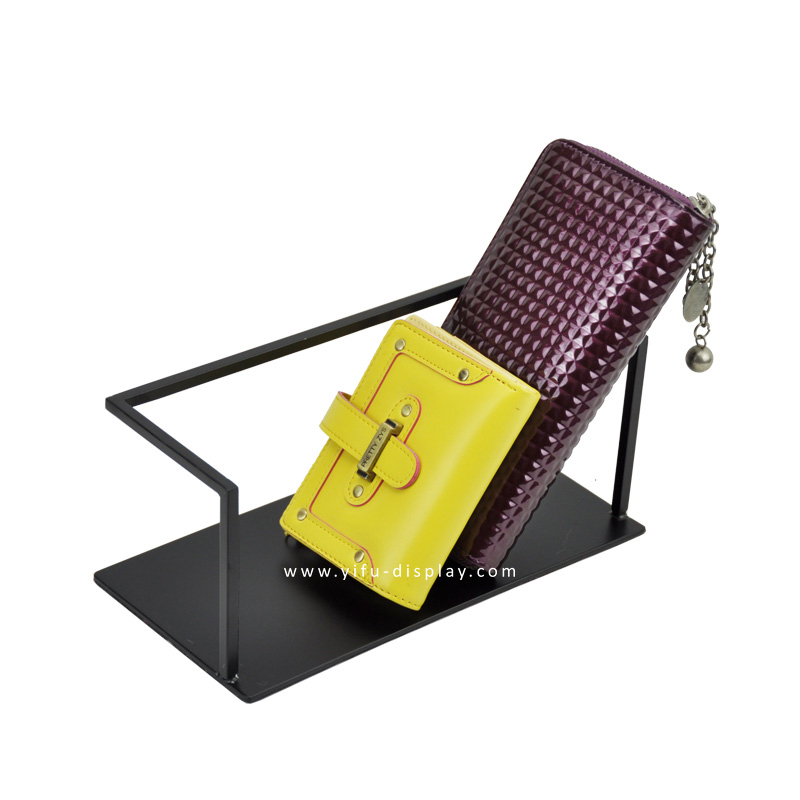 Free Shipping Metal Wallet Display Stand Purse Display Wallet Holder