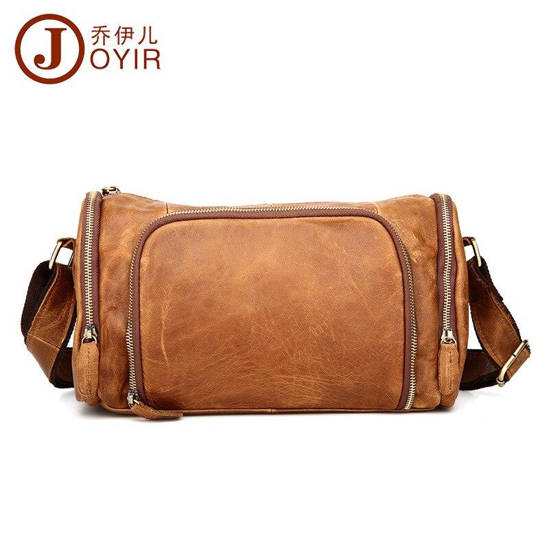 Top Cowboy 100% di Modo Genuino Uomo In Pelle Messenger Bag Vintage Design Cuscino Borse uomo Viaggio casuale orizzontale borse Crossbody