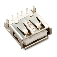 5PCS Connector 2 0 Interface AF 90 Degree USB Female Seat A Mother Horizontal White Computer