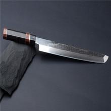 12'' VG10 Core Damascus Blade Professional Japanese Sakimaru Takohiki Chef Knife Raw Fish Meat Filleting Sashimi 4.1G