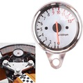 Free Shipping Universal Motorcycle Scooter Tachometer Speedometer Gauge LED Light 13000RPM 12V New Replacement