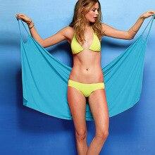 Women Beach Dress Sexy sling beach wear dress sarong bikini cover-ups wrap Pareo towel Open-Back swimwear недорого