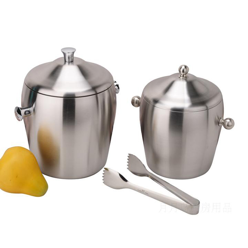 stainless steel ice bucket. Thickening Double Layer Stainless Steel Ice Bucket-in Buckets \u0026 Tongs From Home Garden On Aliexpress.com | Alibaba Group Bucket E