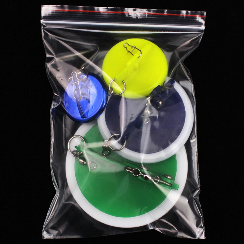 Plastic Fishing Trolling Disc With Lead Weight Sinker Connector Adjustable Accessories New