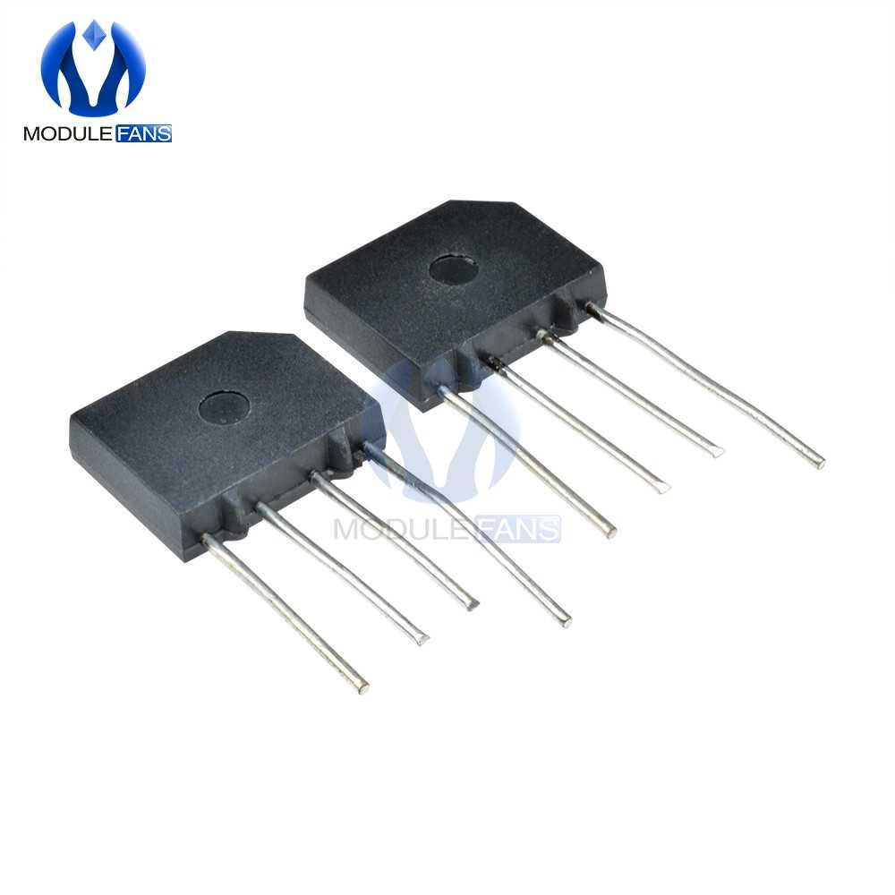 5PCS 2A 1000V Bridge Rectifier Diode Single Phase Bridge Rectifier KBP210 Diy Elektronische Hohe Temperatur Löten Original IC