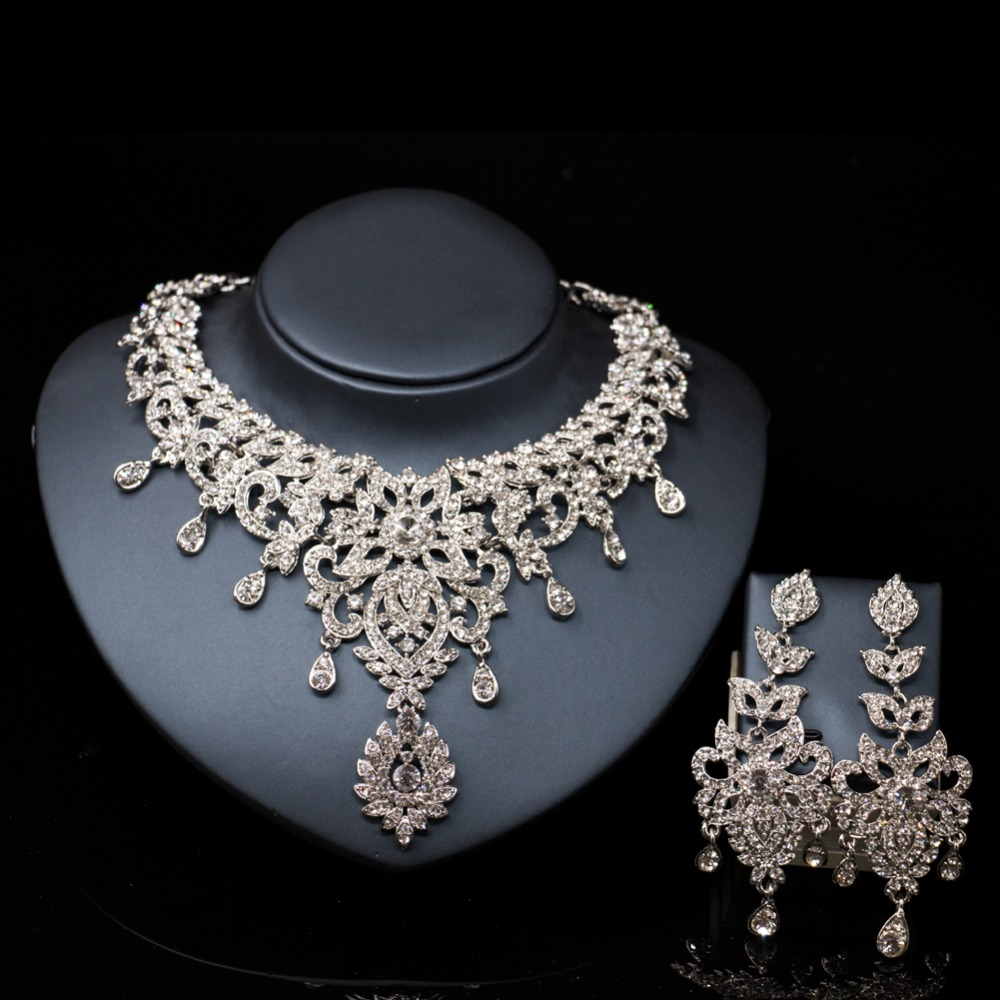 LAN PALACE new arrivals austrian crystal necklace and earrings jewelry turkey jewelry free shippingLAN PALACE new arrivals austrian crystal necklace and earrings jewelry turkey jewelry free shipping