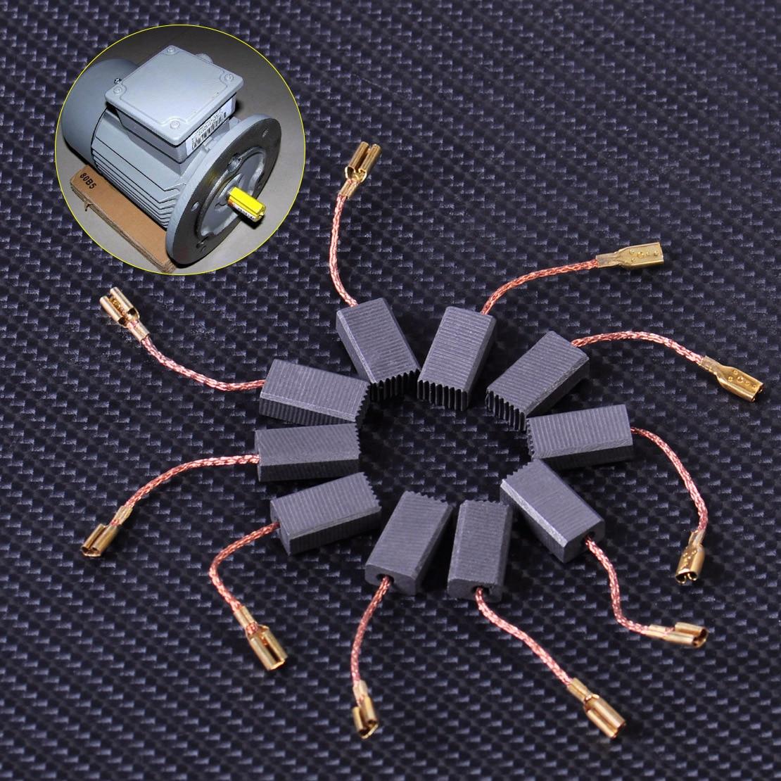 LETAOSK New 10pcs Carbon Brushes Replacement Fit For BOSCH GWS 580 GWS 850 C GWS 7-115 GWS 8-125 GWS 9-150CS GWS6-100 D11
