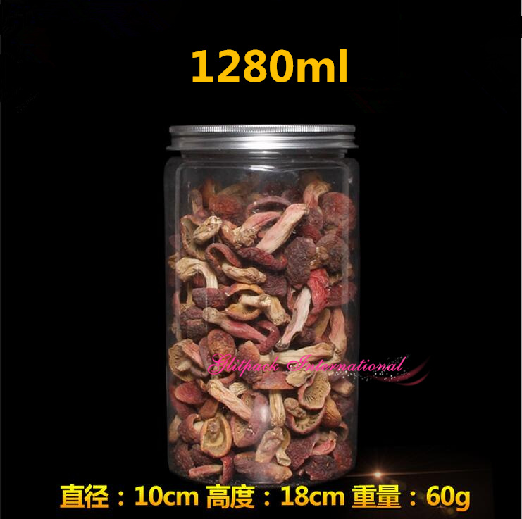 45pcs 10 18cm 1280ml Large Kitchen Storage Containers Airtight Glass Jars Wholesale 45oz Pet Sealed Containers For Food Storage
