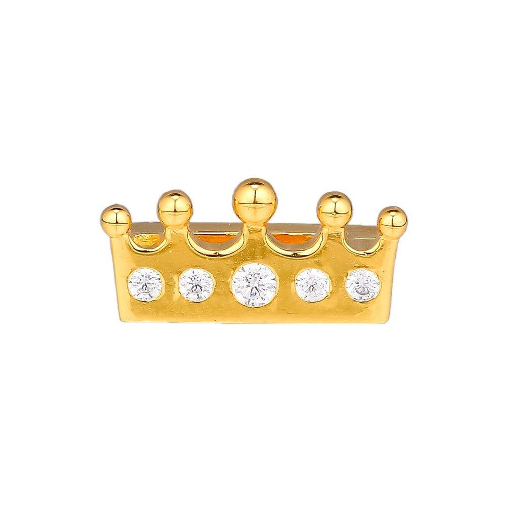 CKK Golden Crown Clip Charm Bead Fit Original  Bracelets sterling silver jewelry women DIY Beads for Jewelry Making CKK Golden Crown Clip Charm Bead Fit Original  Bracelets sterling silver jewelry women DIY Beads for Jewelry Making