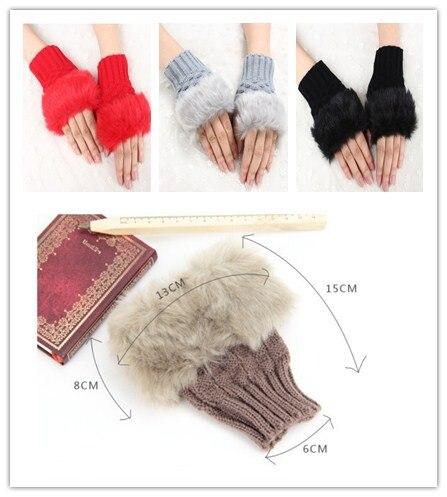 2016 New Womens Men knitted wool Gloves ladies brand Half finger Keep warm thicken winter gloves Korean female knitwear gloves