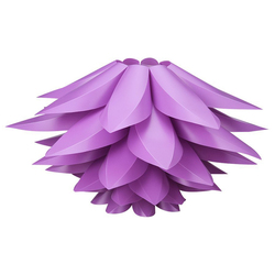 DIY Lotus Lampshade IQ PP Ceiling Lamp Shade - Pendant Light Shade Christmas Living Room Decor Lighting, DIA:53CM (Purple)