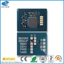 무료 배송 oki c801 c821 용 카트리지 토너 리셋 칩 컬러 레이저 프린터에 사용 44643001 ~ 44643004