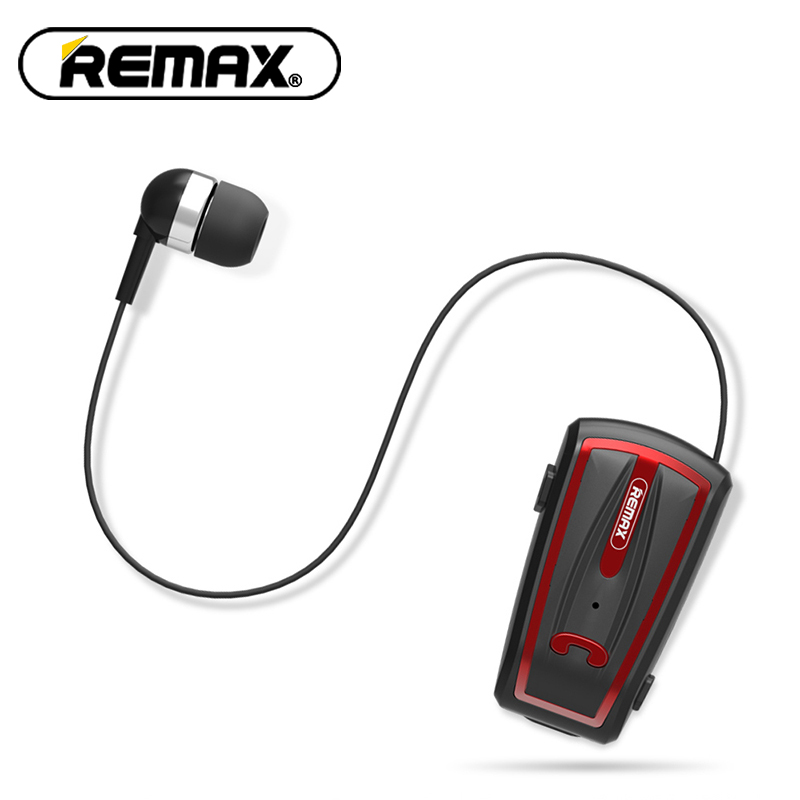 New Remax RB-T12 In-Ear Earphone Wireless Bluetooth V4.0 Retractable Wear Business stereo Ecouteur Collar clip-on for phone remax bluetooth v4 1 wireless stereo foldable handsfree music earphone for iphone 7 8 samsung galaxy rb 200hb