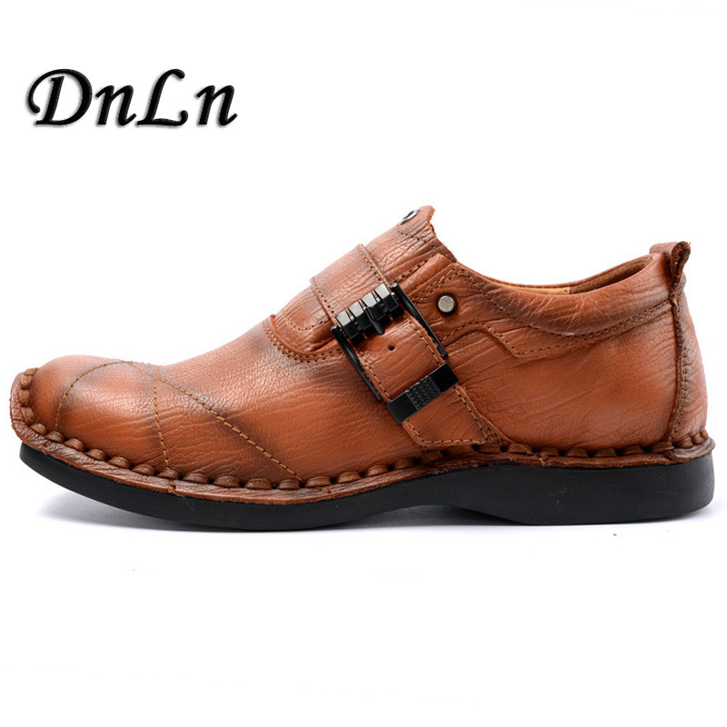 Brand Handmade Breathable Men's Oxford Shoes Top Quality Dress Shoes Men Flats Fashion Genuine Leather Casual Shoes Men D30 zxq brand handmade new winter men oxford shoes solid color high quality retro british style men flats leather shoes