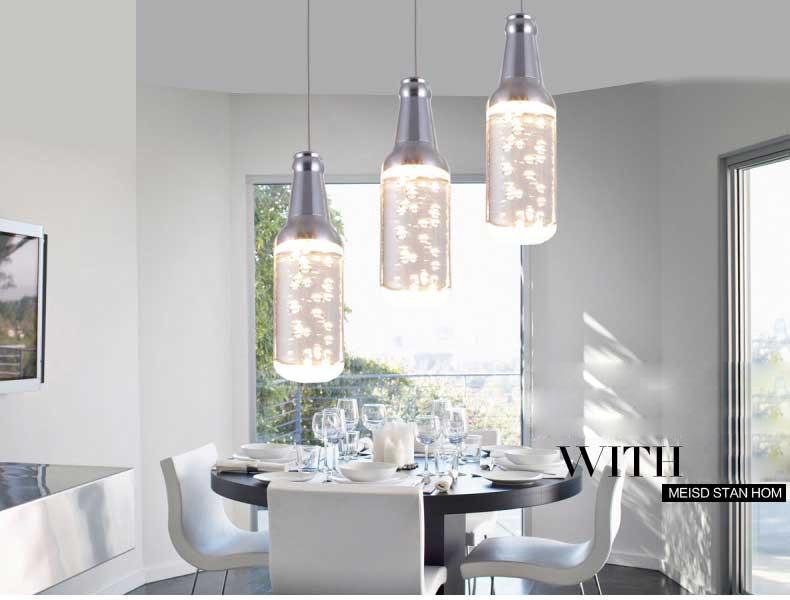 moderne led hanglamp met retro lamp mini acryl lampenkap voor, Deco ideeën