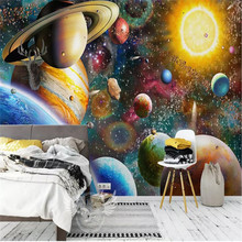 Space universe children's room bedroom large mural professional manufacturing mural photo wallpaper цена 2017