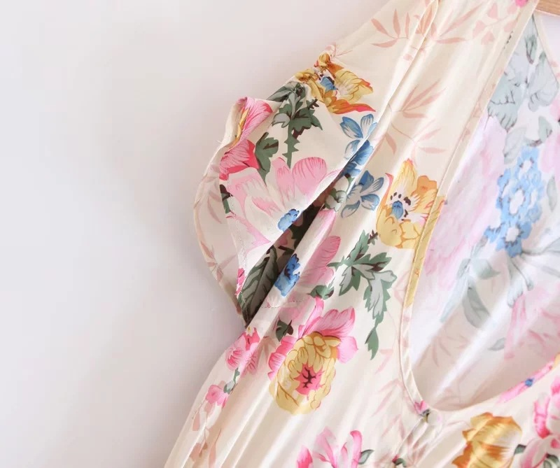 2018 summer women sexy single breasted high waist bow tie bohemian maxi dresses female ruffles splicing long chiffon dress cloth