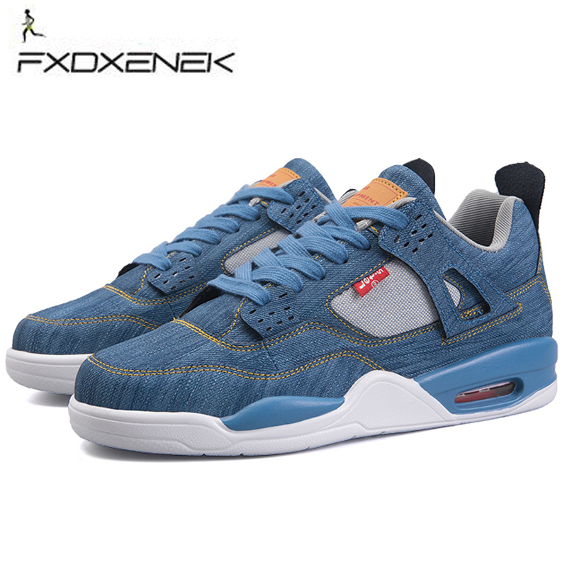 New 2018 Men's Basketball Shoes Jordan Shoes Denim Cloth Basketball Shoes Male Sneaker Outdoor Athletic Combat Boots Sport Shoes