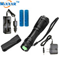 RUzk5 XM-L T6 LED flashlight  4000LM E17 Zoomable LED Flashlight Torch Lamp For 3XAAA or 18650 Battery+Charger+Holster