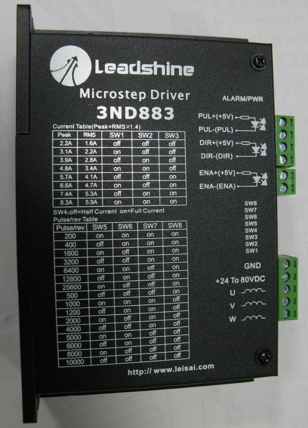 3ND883 Leadshine 3-phase Classic Analog Stepper Motor Drive DC18-80V 2.1-8.3A New Motor Driver leadshine stepper motor driver 3dm 683 3 phase digital stepper drive max 60vac 8 3a