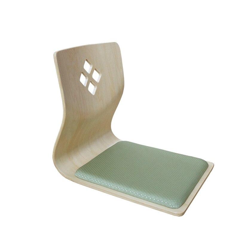 (4pcs/lot)Zaisu Floor Chair Wholesale Natural Finish Living Room Furniture Japanese Style Tatami Legless Floor Chair Design
