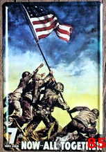 1pc 7th War Loan USA Army all together plaques Tin Plate Sign wall man cave Decoration Poster metal vintage retro decor garage