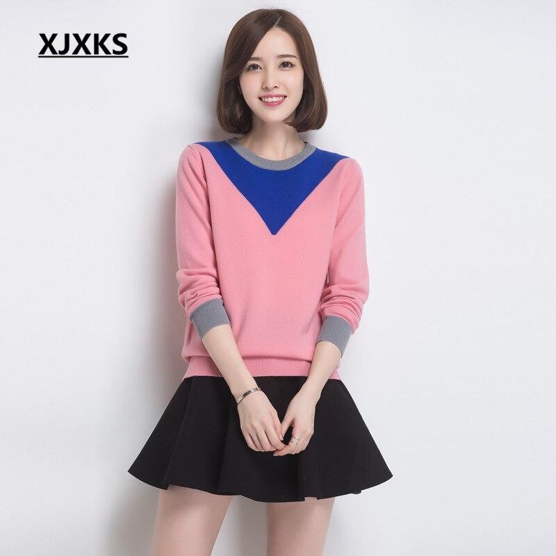 Jersey borgoña E Punto 20198 Mujer Cómoda Otoño Azul Invierno Alta gris  Xjxks Camisa rosado Lana ... 127784b65a2e