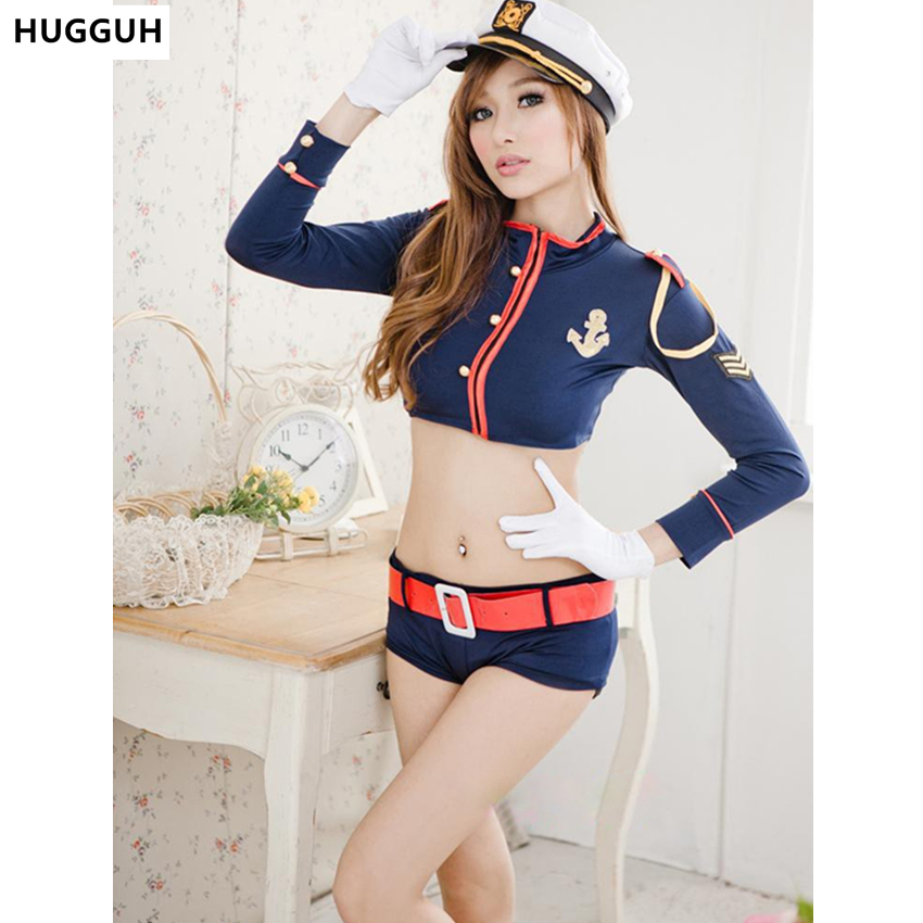 HUGGUH Brand New Women Sexy Lingerie Female Clothing Police Costume Girls Clothes Women Exotic Apparel Hot Sale SL1582618