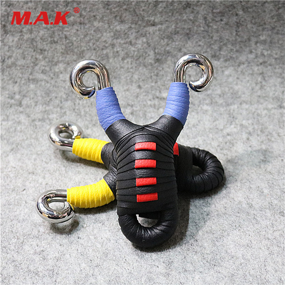 Powerful Traditional Elastic Flat Rubber Band Slingshot Colorful Slingshot for Outdoor Archery Shooting