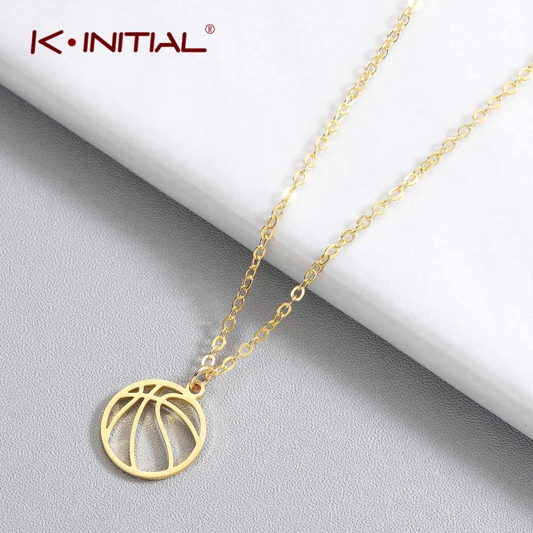 Collar con colgante de bola Kinitial 2019 joyería deportiva encanto deportivo collar de cadena de voleibol regalos bola Volley deportes collares