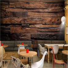 beibehang wallpaper background large painting Retro nostalgic wood panels murales de pared hotel badroom mural for living room