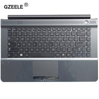 Клавиатура для ноутбука GZEELE, новая клавиатура для Samsung RC410 RC420 RV420 RV413 RV412 RC415, чехол-подставка, английский, США, верхний корпус, рамка