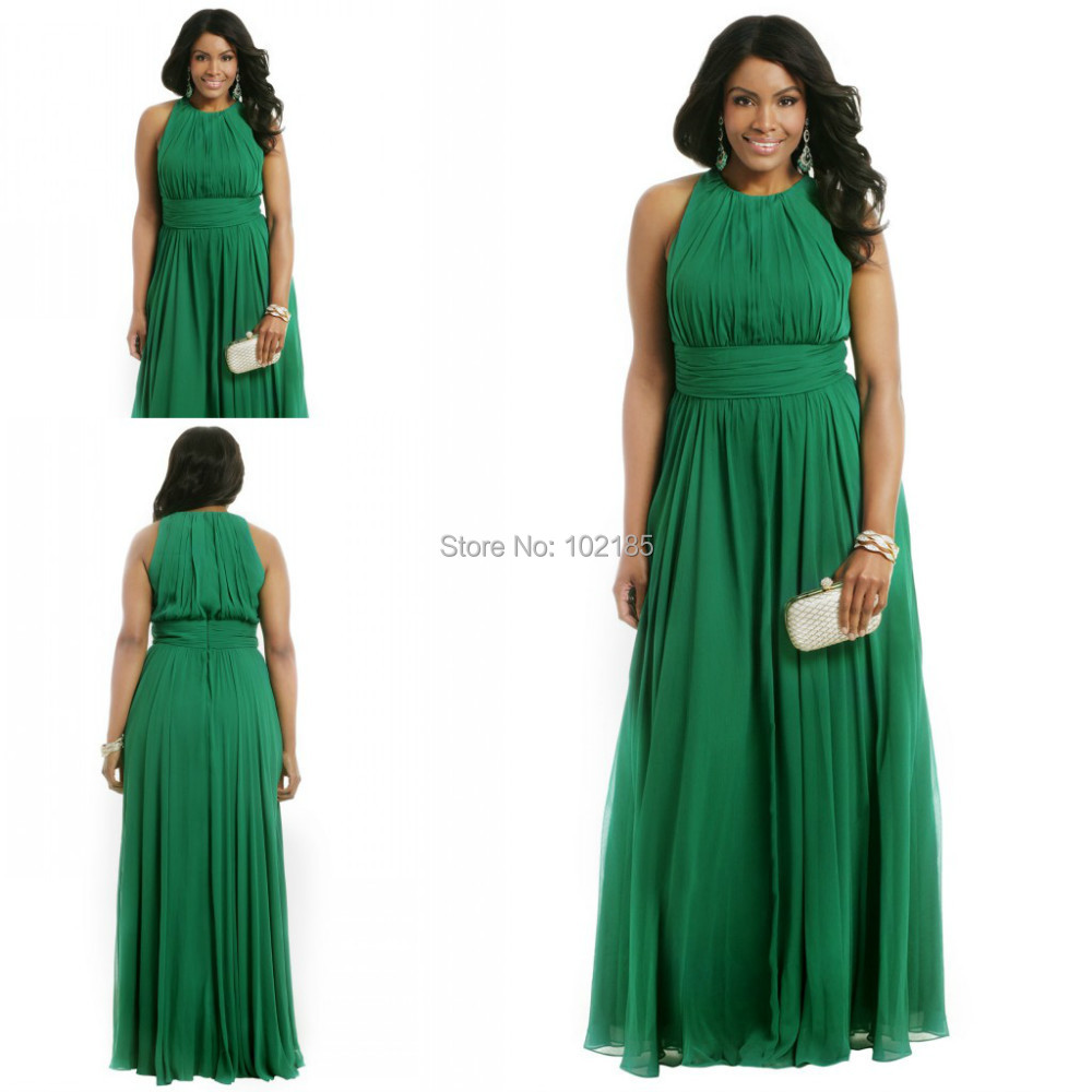 2016 New Design Plus Size Emerald Green Long Formal ...