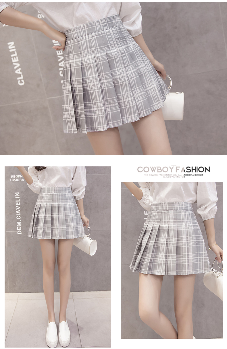 XS-3XL Women Skirt Preppy Style High Waist Chic Stitching Skirts Summer Student Pleated Skirt Women Cute Sweet Girls Dance Skirt 23