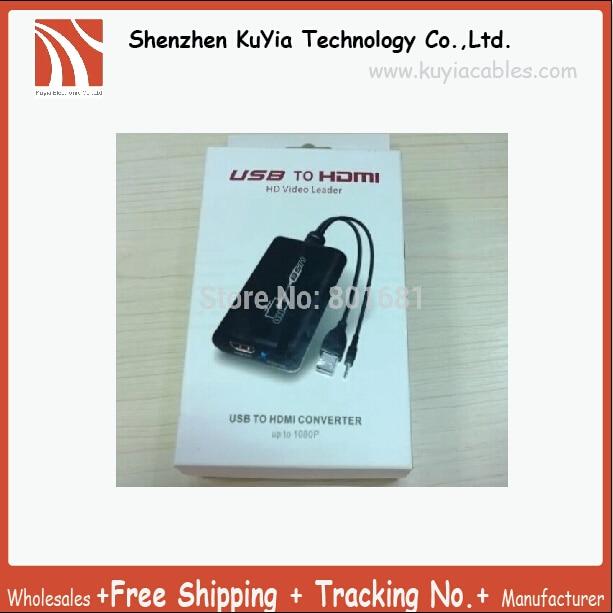 Prise en charge USB vers HDMI 1080 P USB ordinateur portable vers HDMI HDTV graphique adaptateur vidéo convertisseur adaptateur + 3.5mm câble Audio carte graphique