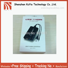 USB a Hdmi 1080 P USB Laptop PC a HDMI HDTV Adaptador Convertidor adaptador de gráficos de Vídeo + Tarjeta Gráfica de 3.5mm Cable de Audio