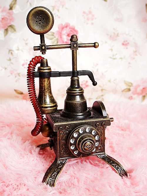 Fashion European Cannons Retro Telephone Model Lighter Function Creative Crafts Home Decoration