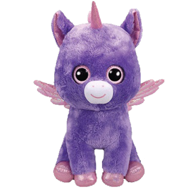 Ty Beanie Boos Plush Animal Doll Athena The Purple Unicorn Soft Stuffed  Toys With Tag Large Size 18