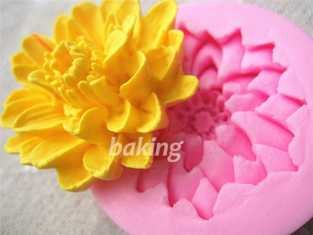 Lotus Flower Shape Silicone Mold Fondant Paste Diy 3d Blossoming