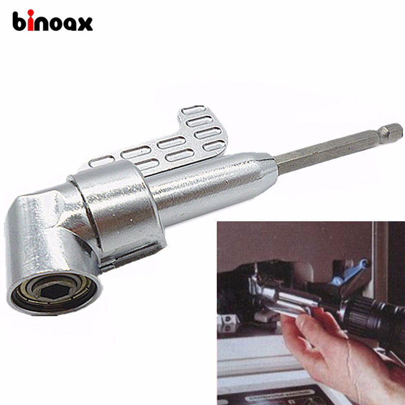 Binoax 1/4 Magnetic Angle Bit Driver Adapter Screwdriver 360 Degree Adjustable Thumb Flange Off-Set Power Head Power Drill