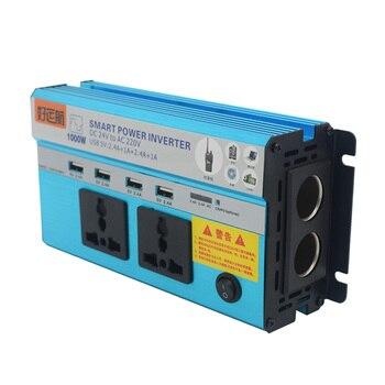 1Pcs 12V/24V 1000W Inverter Car/Home Power Voltage Converter With USB 5V Transform Car Charger With Cigarrette Light Socket