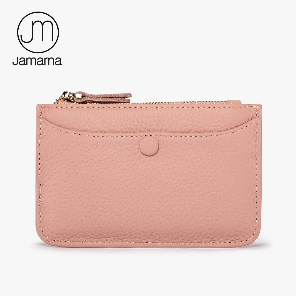 Jamarna Genuine Leather Small Women Wallet Cow Leather Coin Purses Cute Mini Key Pouch Women Wallet Card Holder Zipper Brand New free shipping new women s wallet cowhide genuine leather wallet for women famous brand wallet plaid shape hot cute women purses