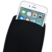 Black Elastic Soft Flexible Neoprene Protective Pouch Bag for iPhone X 8 7 6S SE Protect Sleeves Pouch Case for iPhone 7 8 Plus