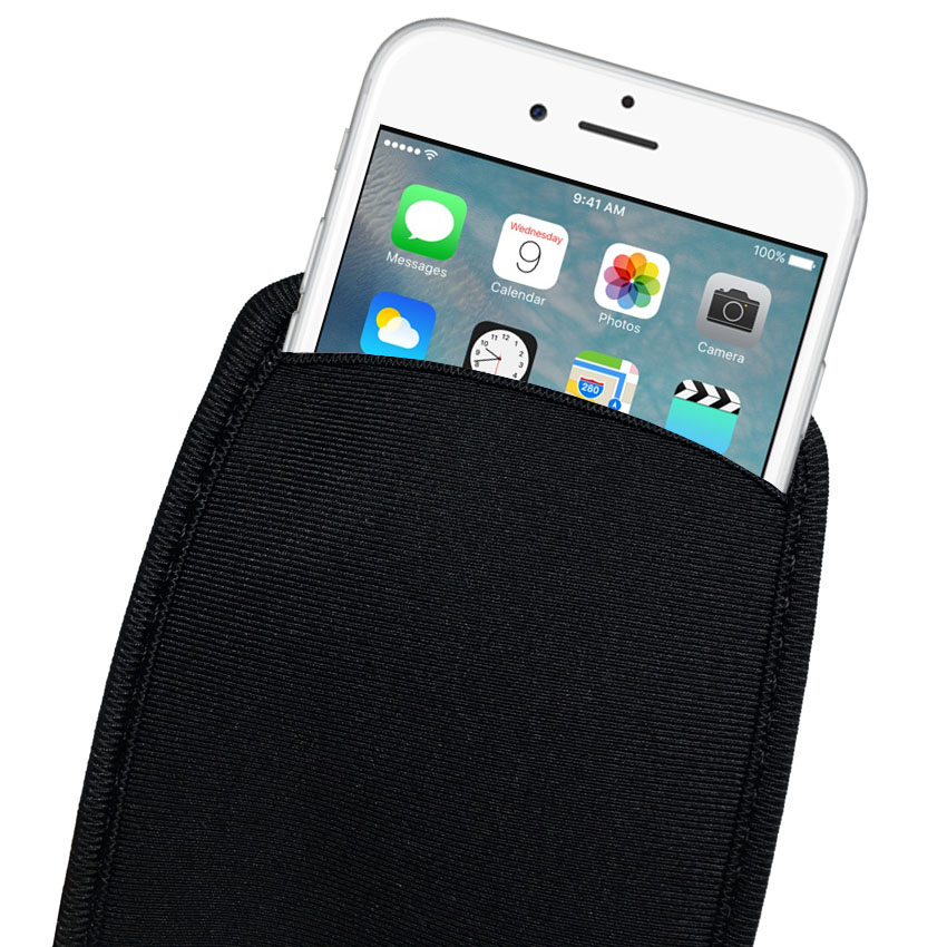 Black Elastic Soft Flexible Neoprene Protective Pouch Bag for iPhone 11 Pro MAX Protect Sleeves Pouch Case for iPhone 7 8 Plus
